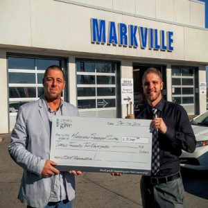 The funds were raised at a test drive event