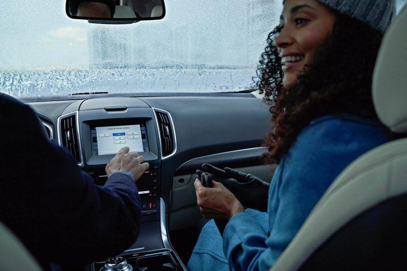 Interior Dashboard of car in winter