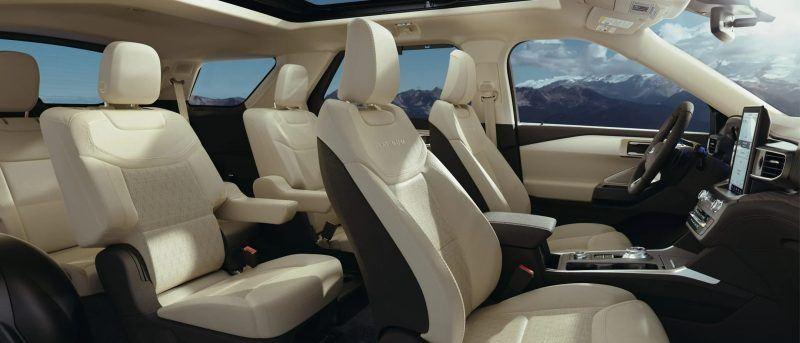 Interior of Ford Escape