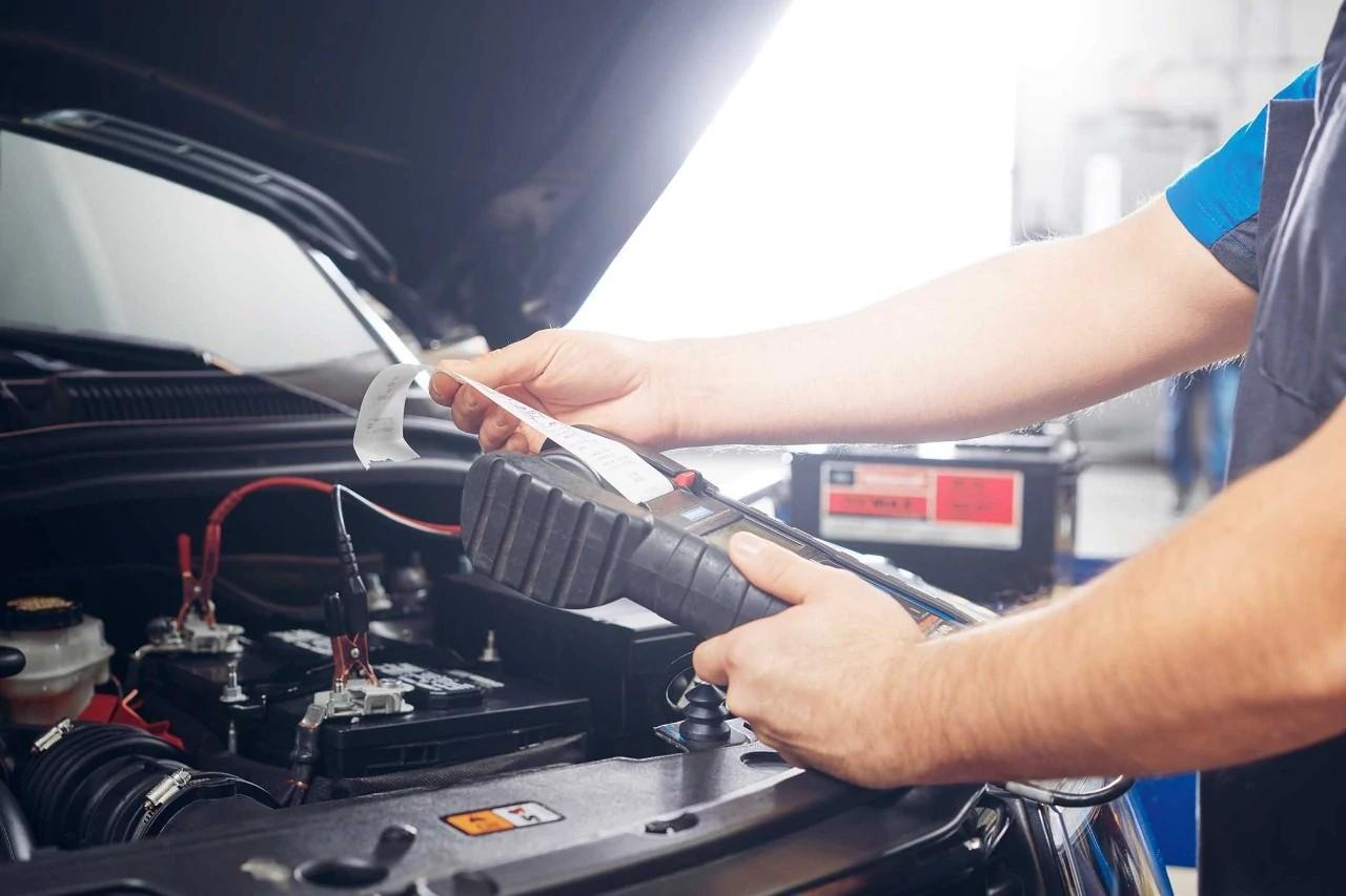 Test de batterie d'un véhicule Ford