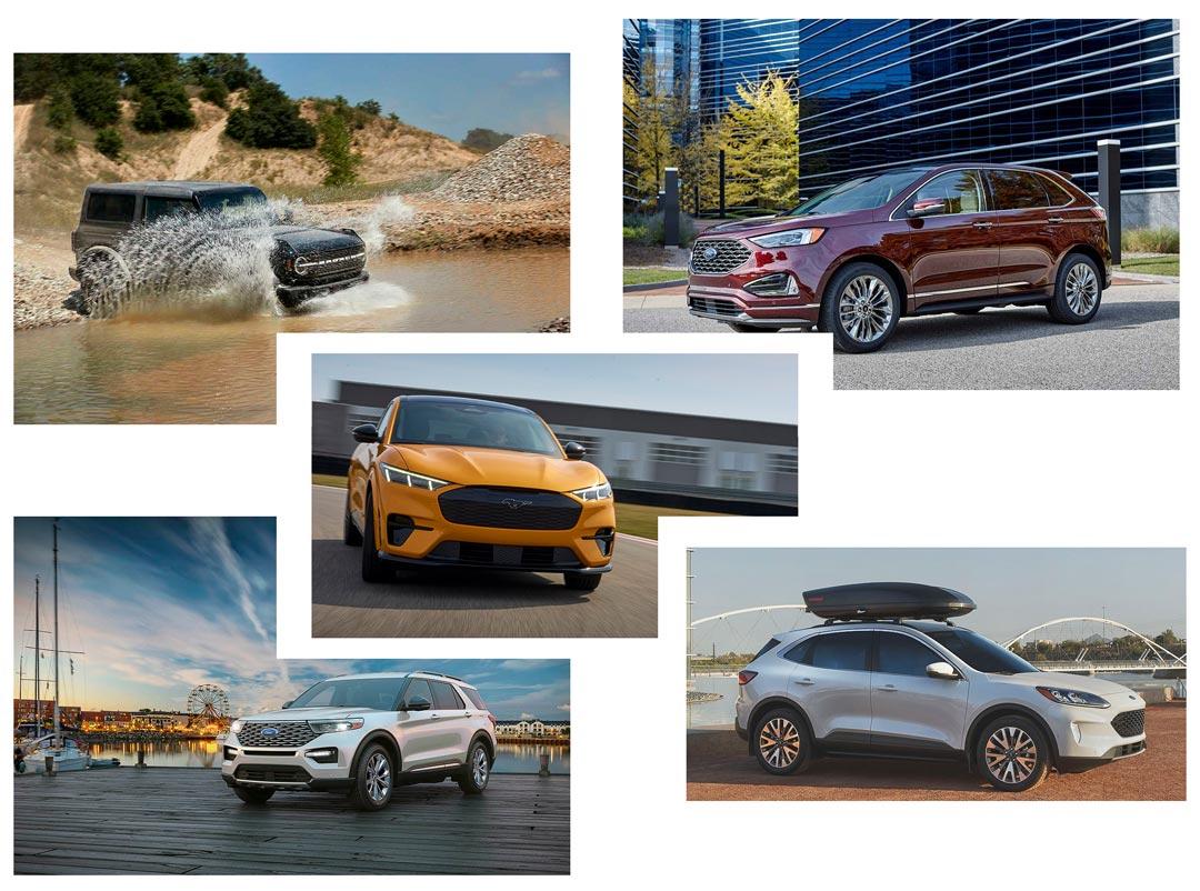 présentation de cinq VUS Ford